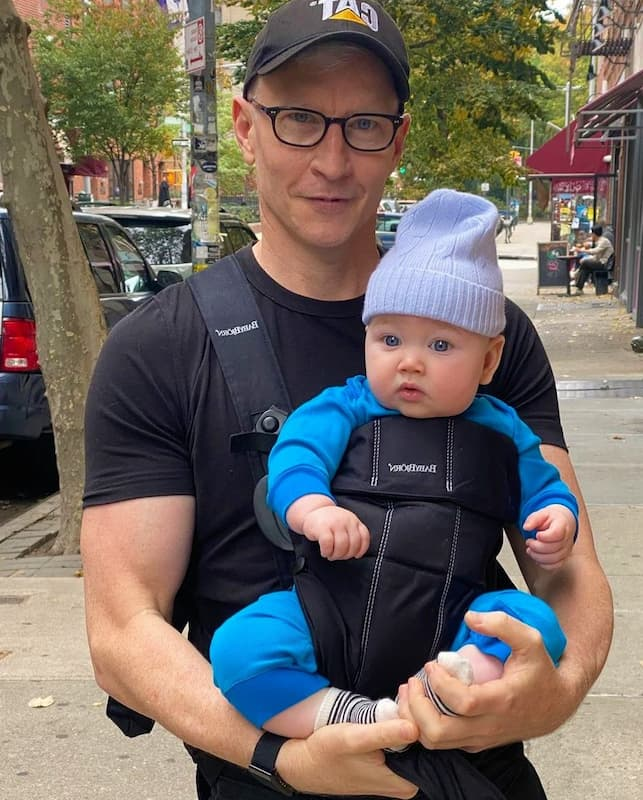 Anderson Cooper with Wyatt Morgan Cooper