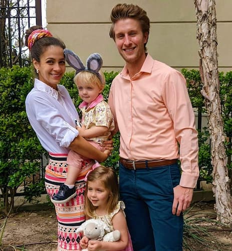 Kaitlin Monte with her husband and Kids